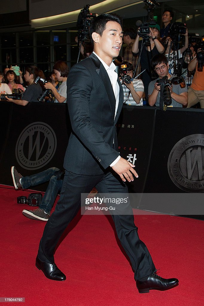 South Korean actor Jung Suk-Won (Chung Suk-Won) attends the 'Snowpiercer' South Korea premiere at Times Square on July 29, 2013 in Seoul, South Korea. The film will open on August 1, in South Korea.