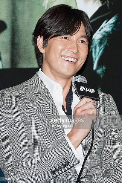 South Korean actor Jung WooSung attends the 'Cold Eyes' Press Screening at CGV on June 19 2013 in Seoul South Korea The film will open on July 04 in...