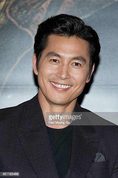 South Korean actor Jung WooSung attends 'The Divine Move' press screening at MEGA Box on June 24 2014 in Seoul South Korea The film will open on July...