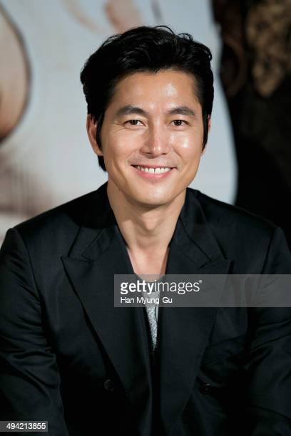 South Korean actor Jung WooSung attends 'The Divinemove' press conference at MEGA Box on May 28 2014 in Seoul South Korea