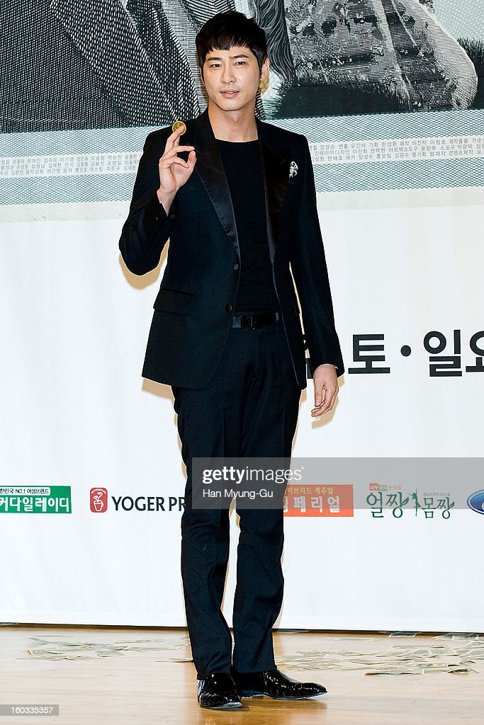 South Korean actor Kang Ji-Hwan attends the SBS Drama 'Incarnation Of Money' Press Conference at SBS on January 29, 2013 in Seoul, South Korea. The movie will open on February 02 in South Korea.