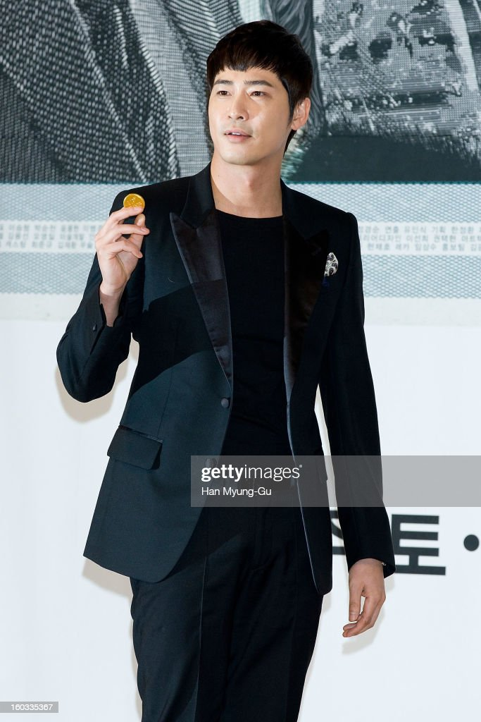 South Korean actor <a gi-track='captionPersonalityLinkClicked' href=/galleries/search?phrase=Kang+Ji-Hwan&family=editorial&specificpeople=5629350 ng-click='$event.stopPropagation()'>Kang Ji-Hwan</a> attends the SBS Drama 'Incarnation Of Money' Press Conference at SBS on January 29, 2013 in Seoul, South Korea. The movie will open on February 02 in South Korea.