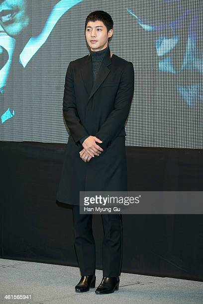 South Korean actor Kim HyunJoong attends the KBS Drama 'Inspiring Generation' press conference on January 9 2014 in Seoul South Korea The drama will...
