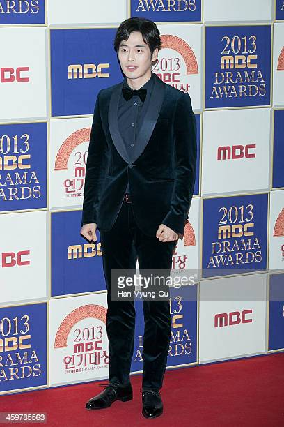 South Korean actor Kim JaeWon attends the 2013 MBC Drama Awards on December 30 2013 in Seoul South Korea