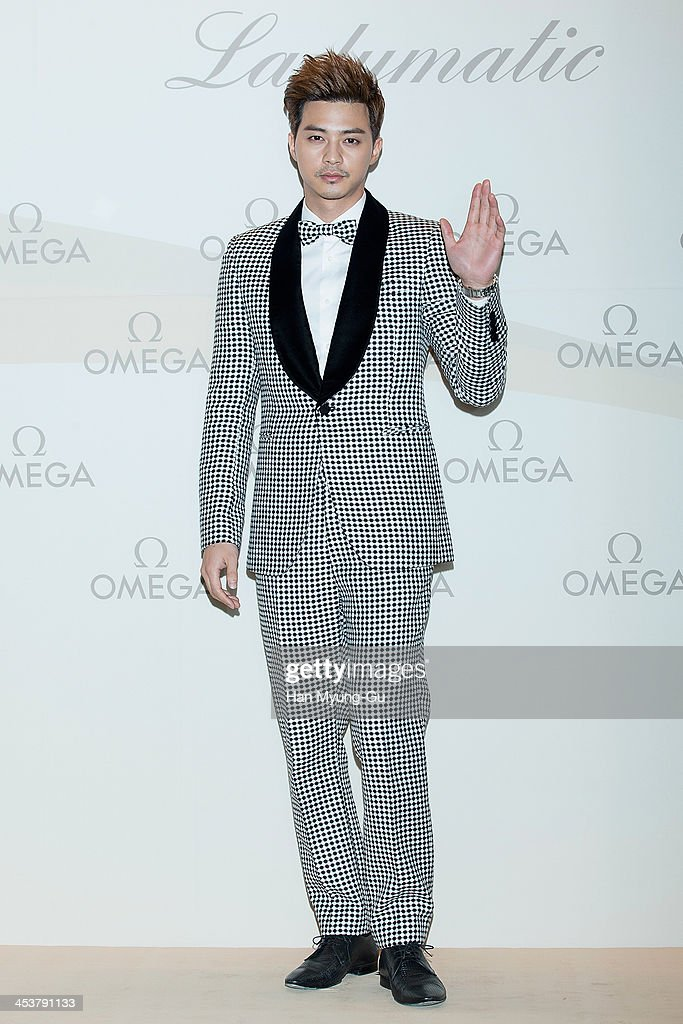 South Korean actor Kim JiHoon attends Omega 'Ladymatic' Launch Party at Shilla Hotel on December 5 2013 in Seoul South Korea