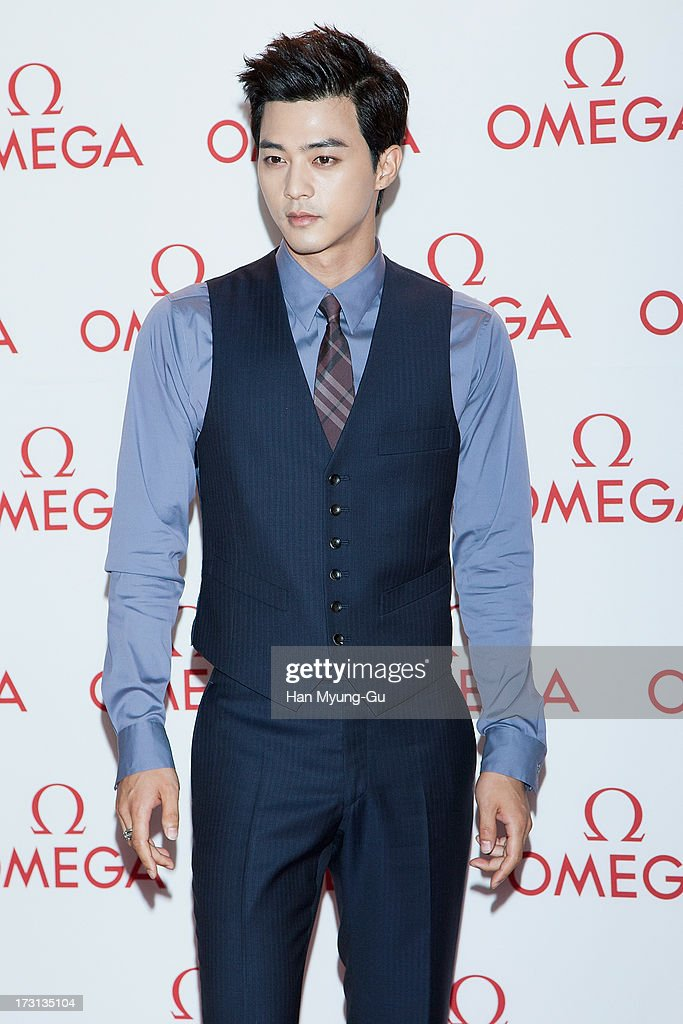 South Korean actor Kim Ji-Hoon attends the 'OMEGA' Co-Axial Movement Exhibition at Beyond Museum on July 8, 2013 in Seoul, South Korea.