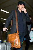 South Korean actor Kim NamGil is seen at Gimpo International Airport on February 9 2013 in Seoul South Korea