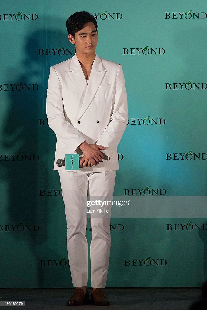 South Korean actor Kim Soo Hyun attends Beyond skincare event on April 23, 2014 in Hong Kong. Kim is famous from Korean TV drama 'Love From The Star'