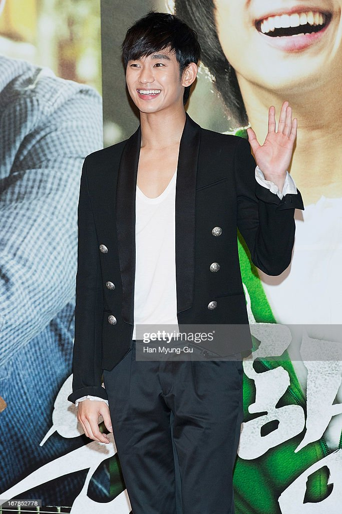 South Korean actor <a gi-track='captionPersonalityLinkClicked' href=/galleries/search?phrase=Kim+Soo-Hyun+-+Actor+-+Born+1988&family=editorial&specificpeople=8739405 ng-click='$event.stopPropagation()'>Kim Soo-Hyun</a> attends during the 'Secretly Greatly' Showcase at Konkuk University on April 30, 2013 in Seoul, South Korea. The film will open on June 05 in South Korea.