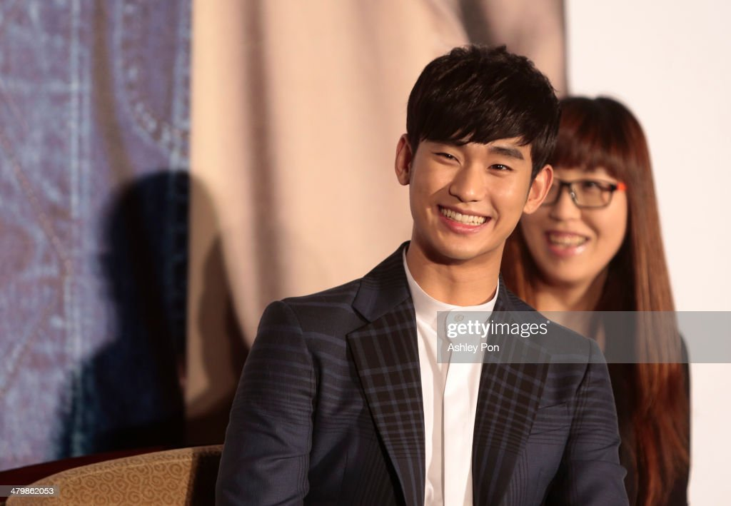 South Korean actor Kim Soo-Hyun laughes at the '1st Memories In Taiwan' press conference on March 21, 2014 in Taipei, Taiwan. Kim is famous from Korean TV drama 'Love From The Star' and will stay in Taipei for 2 days to meet with fans.