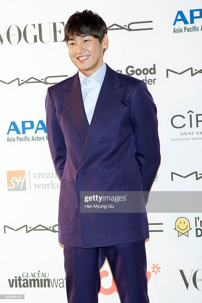 South Korean actor Kim YoungKwang arrives for APAN Star Road during the 17th Busan International Film Festival at the Haeundae beach on October 5...