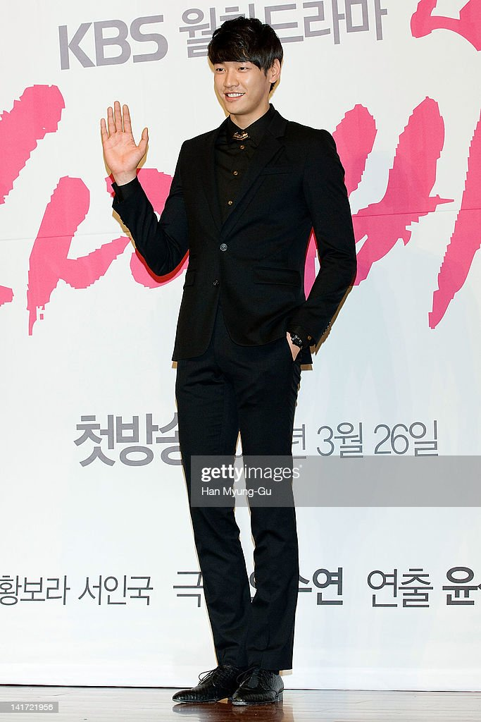 South Korean actor Kim YoungKwang attends a press conference to promote KBS drama 'Love Rain' at Lotte Hotel on March 22 2012 in Seoul South Korea...