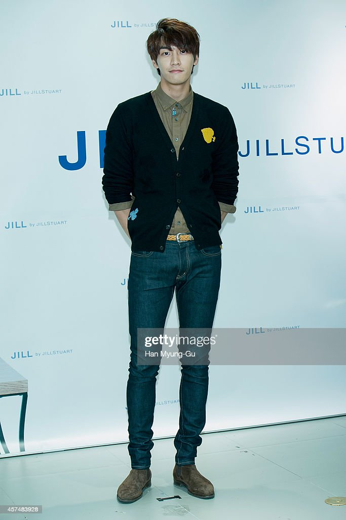 South Korean actor Kim YoungKwang attends an autograph session for 'JILL by Jill Stuart' at Hyundai Department Store on October 18 2014 in Seoul...
