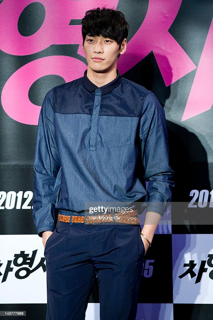 South Korean actor Kim YoungKwang attends during at the 'Runway Cop' Korean movie showcase at CGV on May 3 2012 in Seoul South Korea The movie will...