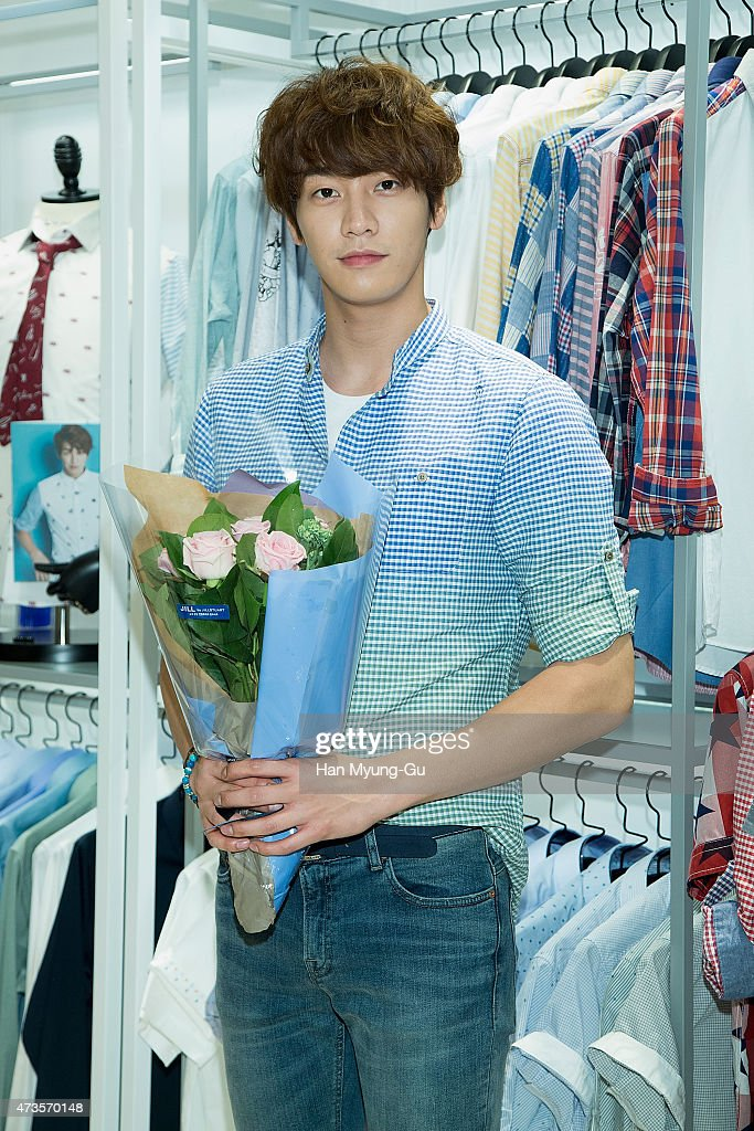 South Korean actor Kim Young-Kwang makes an appearance at JILL by Jill Stuart at Lotte Department Store on May 14, 2015 in Seoul, South Korea.