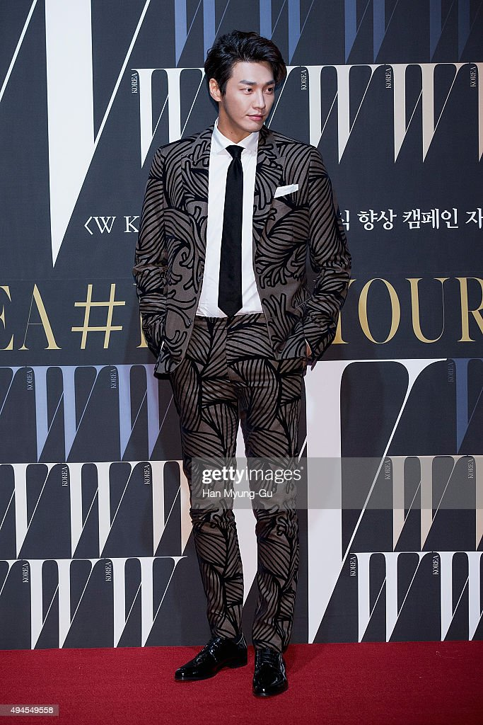 South Korean actor <a gi-track='captionPersonalityLinkClicked' href=/galleries/search?phrase=Kim+Young-Kwang&family=editorial&specificpeople=2150822 ng-click='$event.stopPropagation()'>Kim Young-Kwang</a> poses for photographs at the W Magazine Korea Breast Cancer Awareness Campaign 'Love Your W' photo call on October 27, 2015 in Seoul, South Korea.