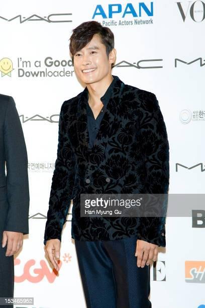 South Korean actor Lee ByungHun arrives for APAN Star Road during the 17th Busan International Film Festival at the Haeundae beach on October 5 2012...