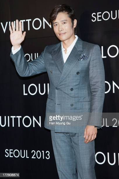 South Korean actor Lee ByungHun attends the 'Louis Vuitton' Hyundai Department Store Global Store Grand Opening Party at the Horim Art Center on July...