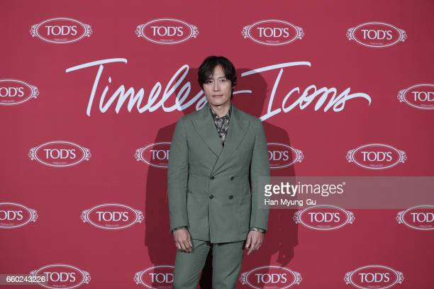 South Korean actor Lee ByungHun attends the photo call for 'TOD'S' Timeless Icons Seoul on March 29 2017 in Seoul South Korea