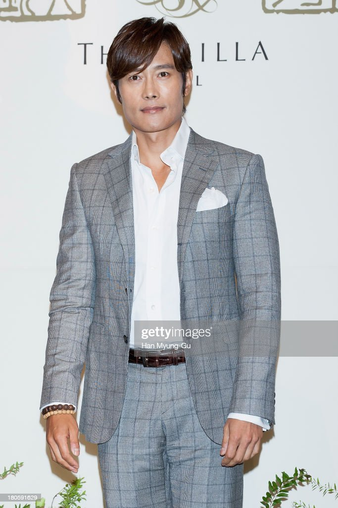 South Korean actor <a gi-track='captionPersonalityLinkClicked' href=/galleries/search?phrase=Lee+Byung-Hun&family=editorial&specificpeople=829983 ng-click='$event.stopPropagation()'>Lee Byung-Hun</a> attends the wedding of Bae Soo-Bin at The Shilla Hotel on September 14, 2013 in Seoul, South Korea.