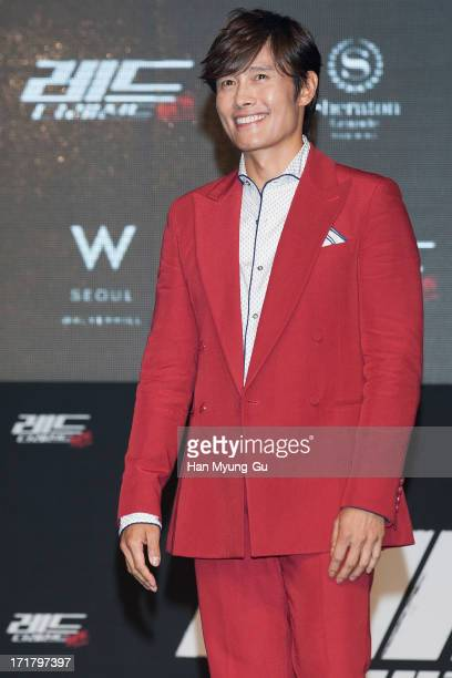 South Korean actor Lee ByungHun poses for media during the 'RED 2' Showcase at Sheraton Walkerhill on June 28 2013 in Seoul South Korea The film will...