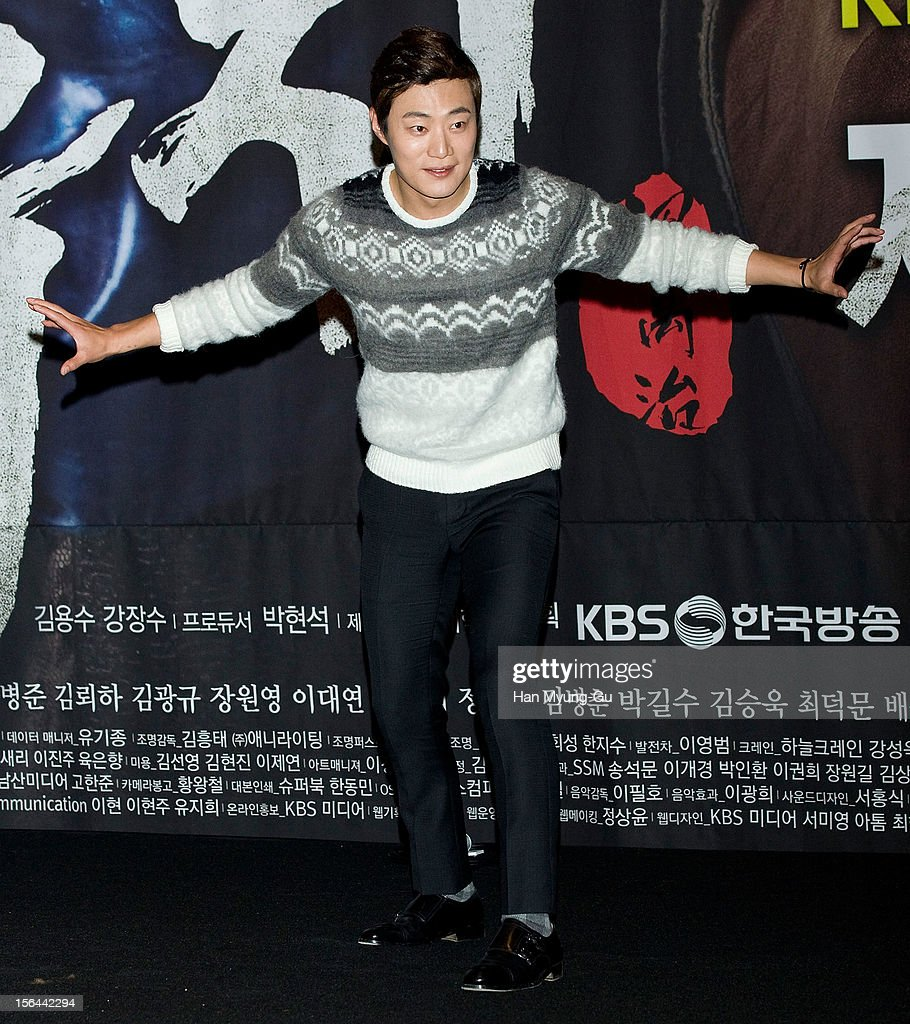 South Korean actor Lee Hee-Joon (Lee Hee-Jun) attends a press conference to promote the KBS drama 'Jeonwoochi' on November 14, 2012 in Seoul, South Korea. The drama will open on November 21 in South Korea.