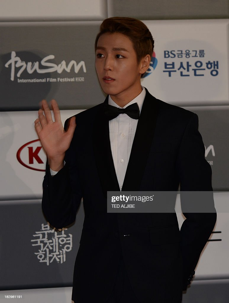 South Korean actor Lee Hyun wu arrives for the opening ceremony of the 18th Busan International Film Festival (BIFF) in Busan on October 3, 2013. Stars of Asian cinema gathered in the South Korean port city of Busan October 3, for the opening of the region's biggest film festival, showcasing new talent in a region where box office takings will soon outstrip North America. AFP PHOTO/TED ALJIBE