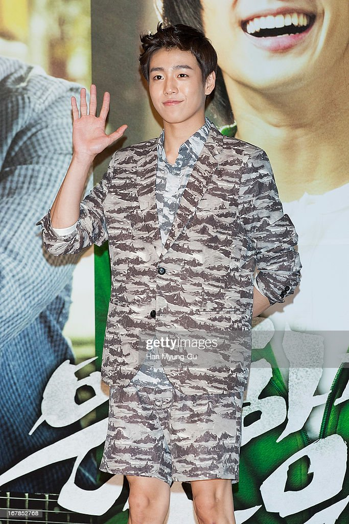 South Korean actor Lee Hyun-Woo attends during the 'Secretly Greatly' Showcase at Konkuk University on April 30, 2013 in Seoul, South Korea. The film will open on June 05 in South Korea.