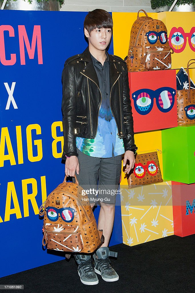 South Korean actor Lee Hyun-Woo poses for media during a promotional event for the MCM Collaboration with GRAIG & KARL 'Eyes On The Horizon' at Lotte Department Store on June 21, 2013 in Seoul, South Korea.