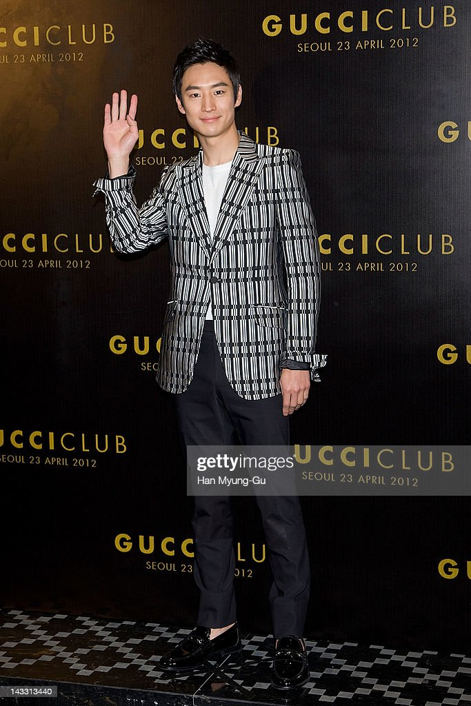 South Korean actor Lee Je-Hoon (Lee Jae-Hoon) attends the Reopening of Gucci's Seoul Flagship Store on April 23, 2012 in Seoul, South Korea.