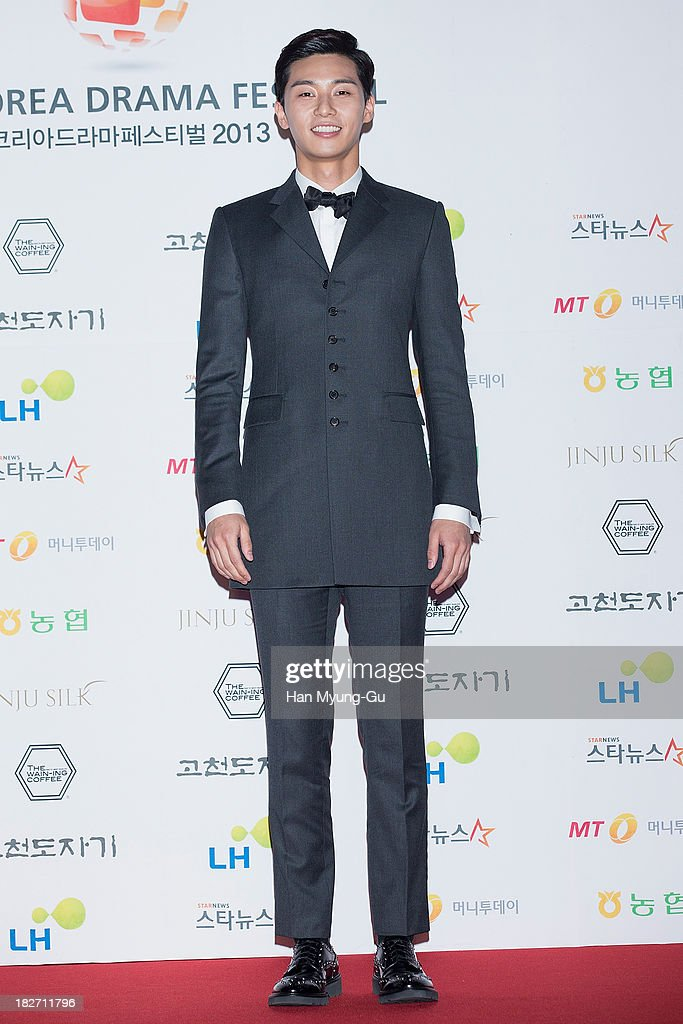 South Korean actor Lee JiHoon arrives for photographs at 2013 Korea Drama Awards at Jinju Arena on October 02 2013 in Jinju South Korea