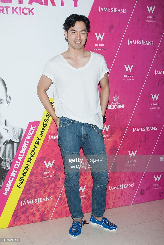 South Korean actor Lee Jin-Wook attends during a promotional event for the 'JamesJeans' 2013 F/W Showcase at the W Hotel on July 19, 2013 in Seoul, South Korea.