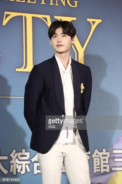 South Korean actor Lee Jongsuk attends a fan meeting of TV drama 'W Two Worlds' on October 21 2016 in Taipei Taiwan of China