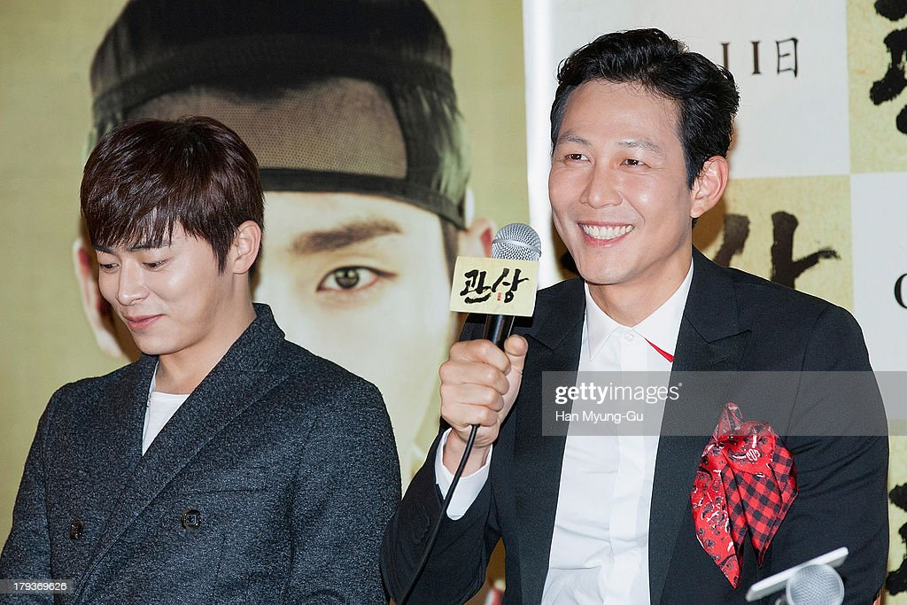 South Korean actor Lee Jung-Jae attends 'The Face Reader' press screening at the MEGA Box on September 2, 2013 in Seoul, South Korea. The film will open on September 11, in South Korea.