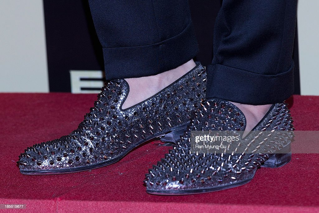South Korean actor Lee Jung-Jae (shoe detail) attends the 'TOP Star' VIP Screening at Lotte Cinema on October 21, 2013 in Seoul, South Korea. The film will open on October 24, in South Korea.