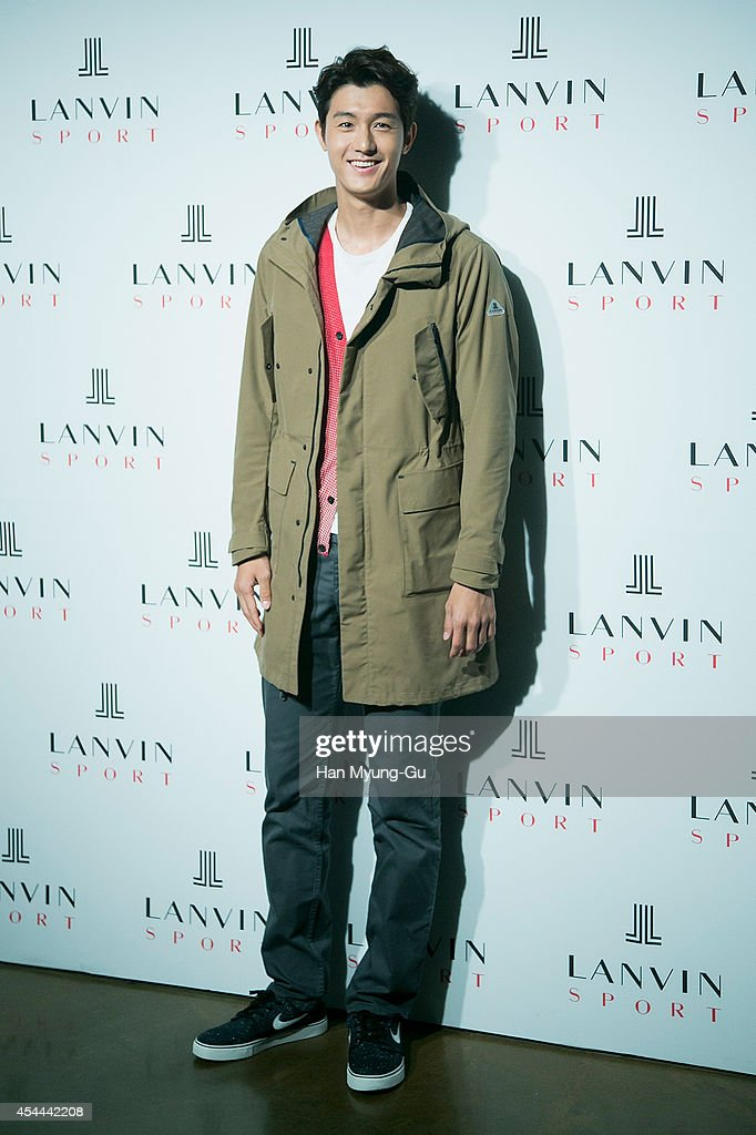 South Korean actor Lee Ki-Woo attends 'Lanvin Sport' FW 2014 Grand Open on August 29, 2014 in Seoul, South Korea.