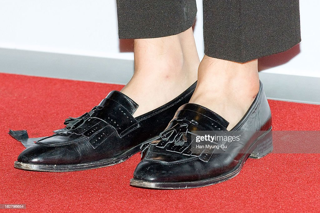 South Korean actor Lee Kwang-Soo (shoe detail) attends the 'Psychometry' VIP Screening at CGV on February 26, 2013 in Seoul, South Korea. The film will open on March 07 in South Korea.