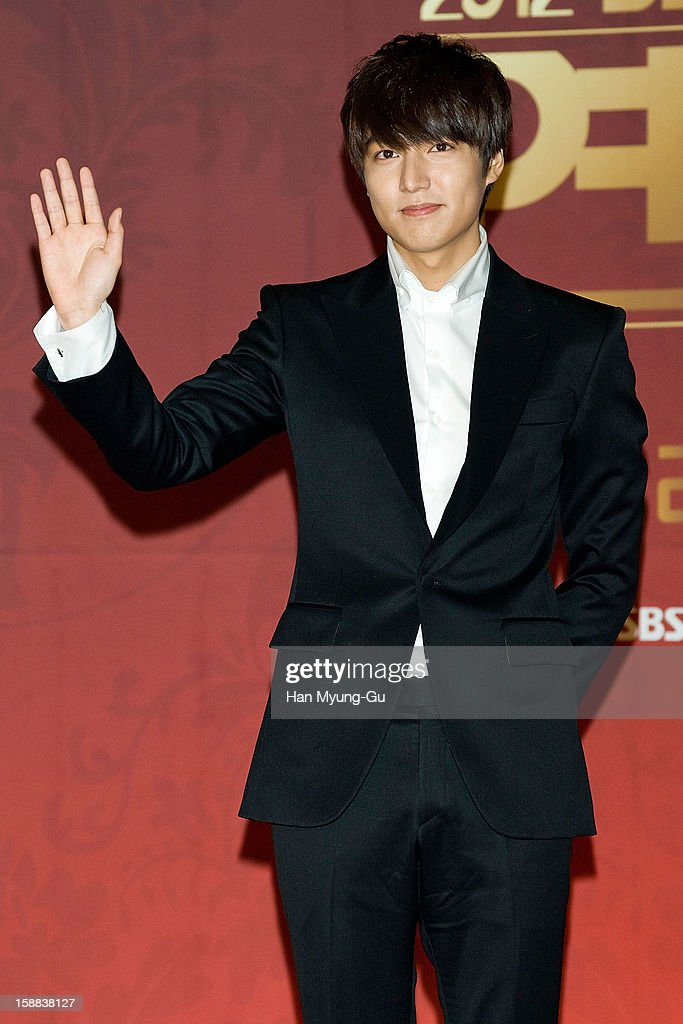 South Korean actor Lee Min-Ho attends during the 2012 SBS Drama Awards at SBS Prism Tower on December 31, 2012 in Seoul, South Korea.