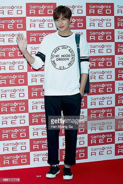 South Korean actor Lee MinHo attends the autograph session for Samsonite Red 'My Red Gallery' on August 31 2015 in Seoul South Korea