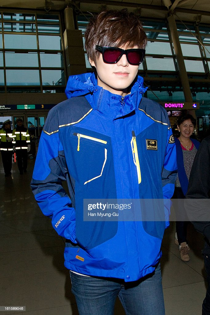 South Korean actor Lee Min-Ho is seen at Incheon International Airport on February 12, 2013 in Incheon, South Korea.