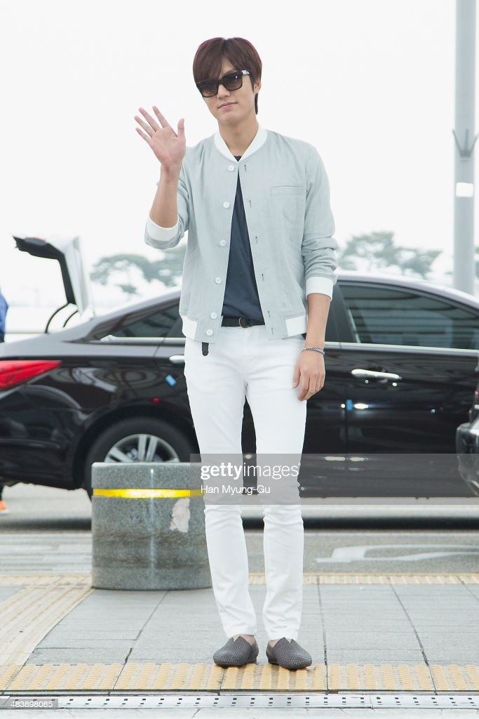 South Korean actor Lee Min-Ho is seen on departure at Incheon International Airport on April 10, 2014 in Incheon, South Korea.