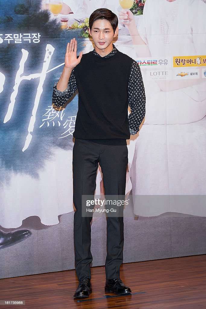South Korean actor Lee Won-Keun attends SBS Drama 'Hot Love' press conference at 63 building on September 23, 2013 in Seoul, South Korea. The drama will open on September 28, in South Korea.