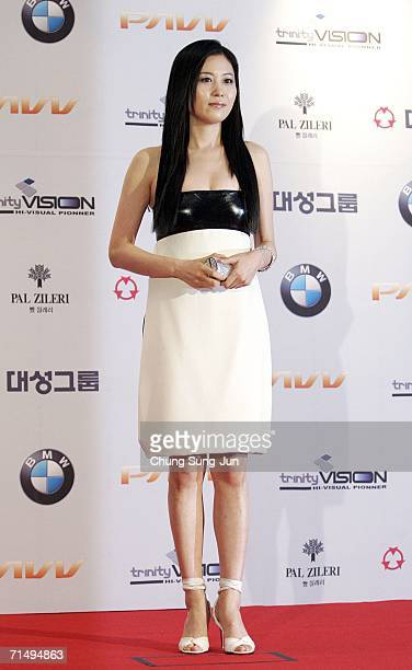 South Korean actor Moon SoRi arrives for the 43rd annual 'Daejong Film Festival' at the Coex Convention Hall July 21 2006 in Seoul South Korea