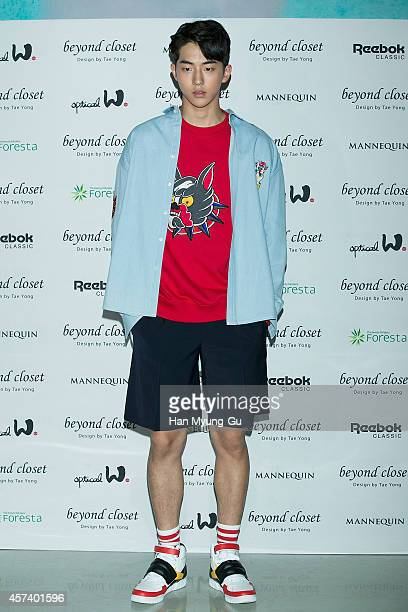 South Korean actor Nam JooHyuk poses for photographs at the Beyond Closet show as part of Seoul Fashion Week S/S 2015 at DDP on October 17 2014 in...