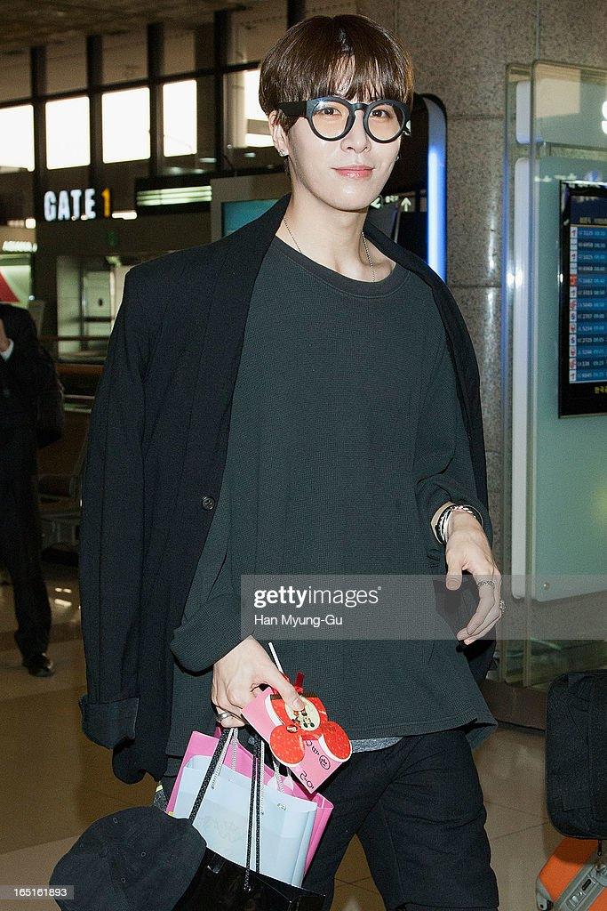 South Korean actor No Min-Woo is seen on departure to Japan at Gimpo International Airport on April 1, 2013 in Seoul, South Korea.