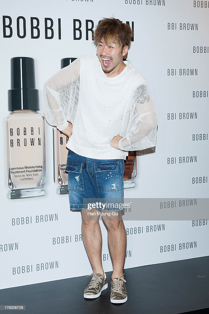 South Korean actor Noh Hong-Chul (No Hong-Chul) attends a promotional event for the 'Bobbi Brown' Pop Up Lounge Opening Party on August 2, 2013 in Seoul, South Korea.