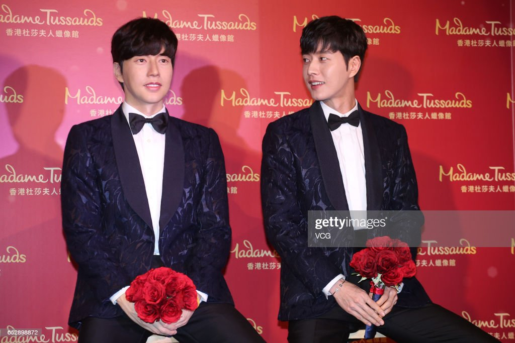 South Korean actor Park Hae-Jin attends his wax figure unveiling ceremony at Madame Tussauds on March 13, 2017 in Hong Kong, Hong Kong.