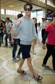 South Korean actor Park HaeJin is seen on departure at Gimpo International Airport on June 15 2014 in Seoul South Korea