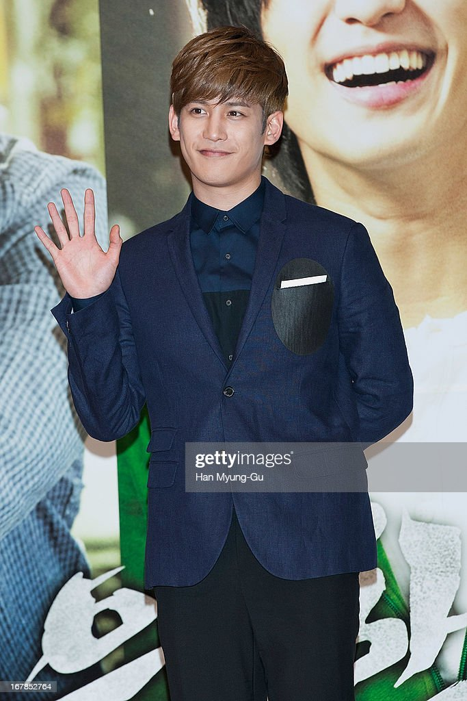South Korean actor Park Ki-Woong attends during the 'Secretly Greatly' Showcase at Konkuk University on April 30, 2013 in Seoul, South Korea. The film will open on June 05 in South Korea.