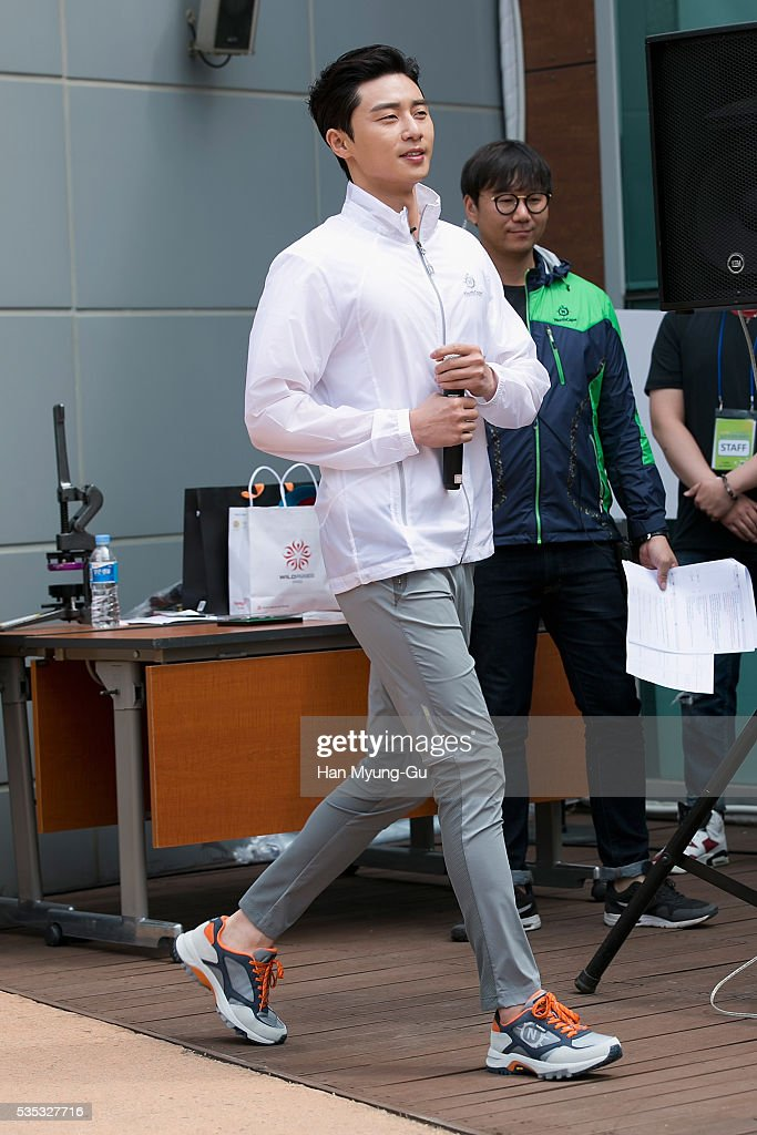 South Korean actor Park Seo-Jun attends the photocall for Hyungji 'NorthCape' Slow Exploring Campaign on May 29, 2016 in Seoul, South Korea.